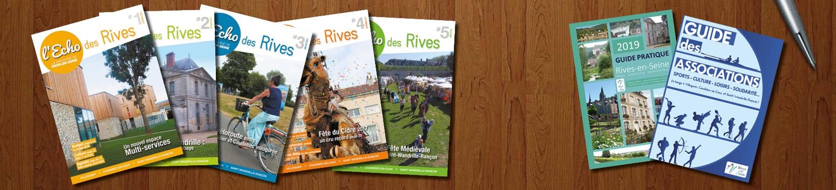 Publications  Retrouvez dans cette rubrique les différentes publications éditées par la Ville de Rives-en-Seine. L'Echo des Rives L'Echo des Rives 1